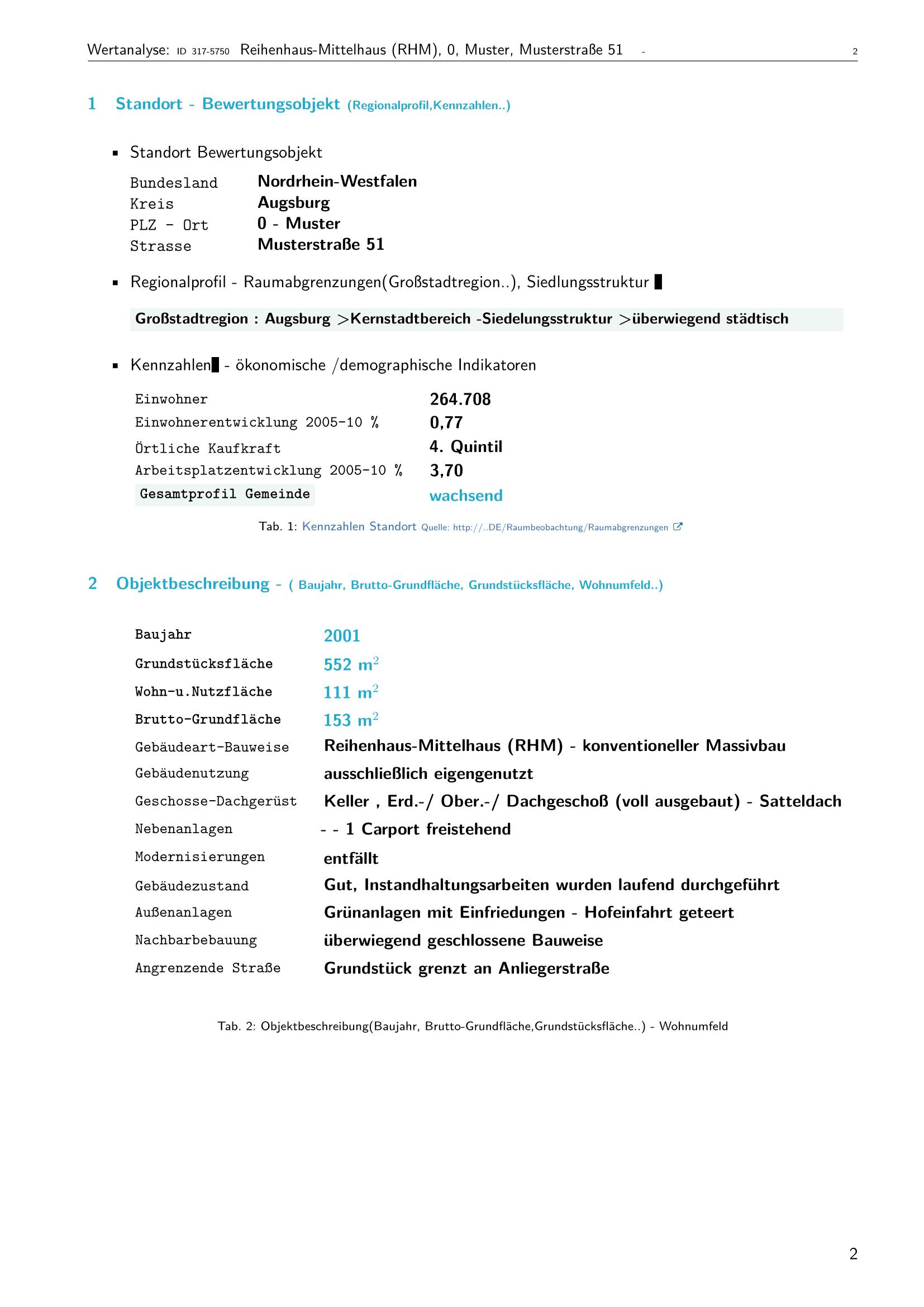 Seite 2 Expertise Immobilienbewertung